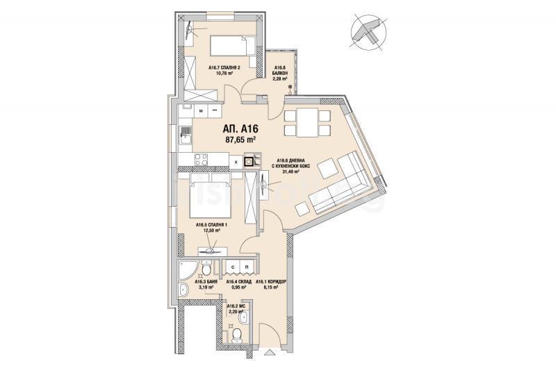 For sale TWO-BEDROOM, € 99 534, 87 65 sq m , Sofia, ,   Iris
